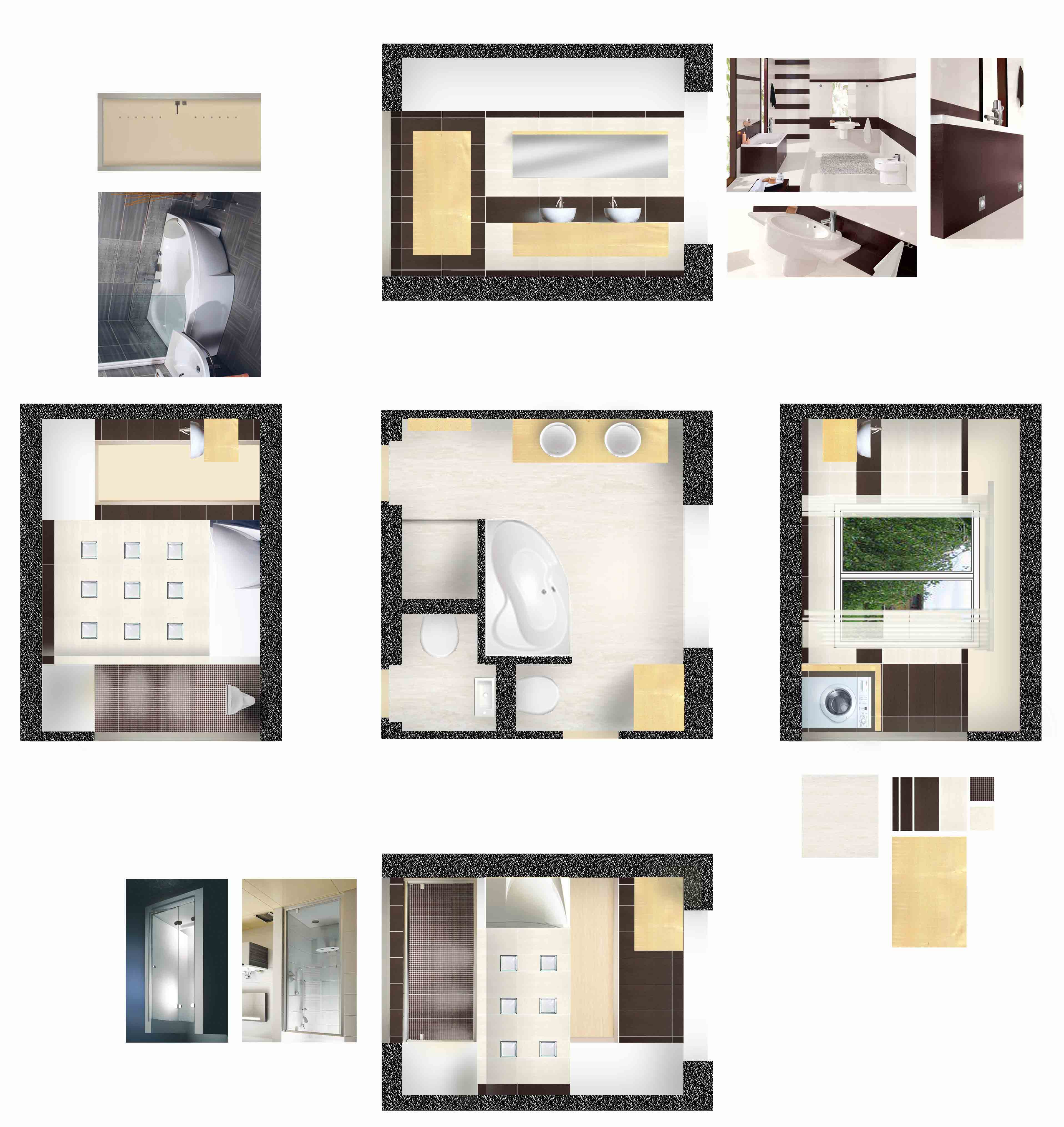 architektonický návrh koupelny