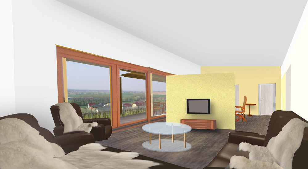 schéma - fotomontáž interiéru