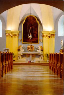 Pohled na oltář