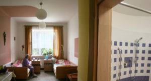 pokoje v druhém patře
