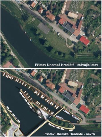 Přístav Uherské Hradiště - situace