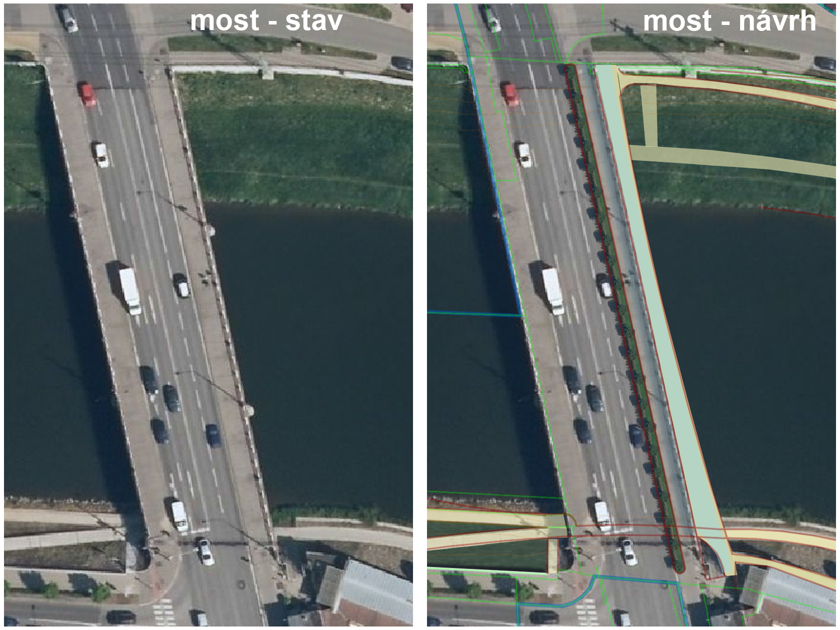 Humanizace silničního mostu na Velehradské třídě v Uherském Hradišti