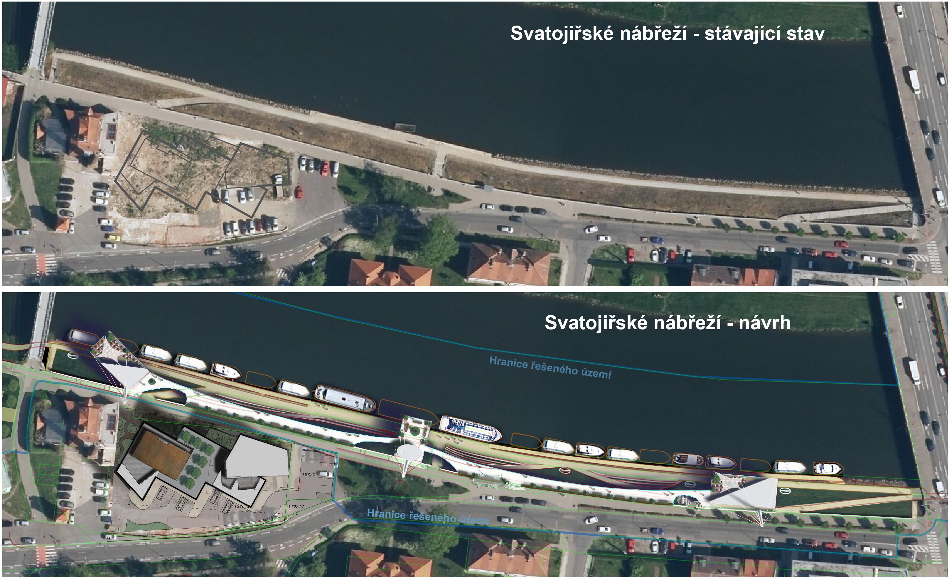 Přístaviště Svatojiřské nábřeži v Uherském Hradišti